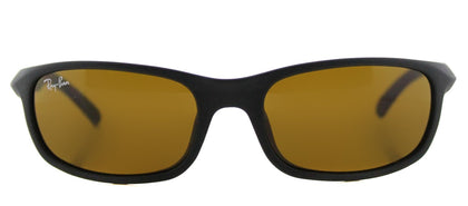 Ray-Ban Jr RJ 9056 Sport Plastic Sunglasses - Matte Black with Brown Lens