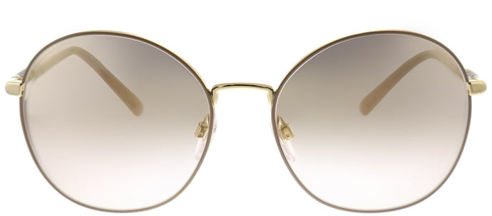 Burberry BE 3094 12587I Gold Round Metal Sunglasses