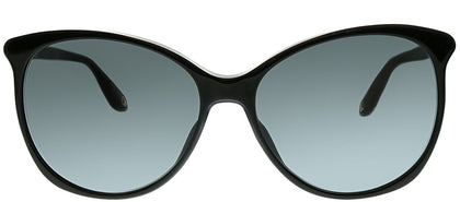 Givenchy GV 7095 807 Black Oval Plastic Sunglasses