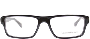 Emporio Armani EA 3013 5102 Black Grey Rectangle Metal Eyeglasses