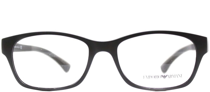Emporio Armani EA 3017 5042 Matte Black Rectangle Metal Eyeglasses