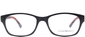 Emporio Armani EA 3017 5122 Matte Blue Rectangle Metal Eyeglasses