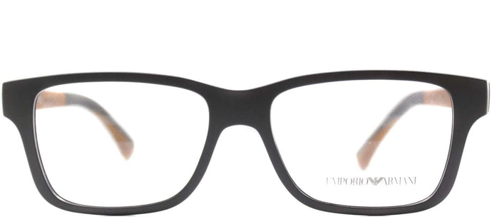 Emporio Armani EA 3018 5126 Matte Grey Rectangle Metal Glasses
