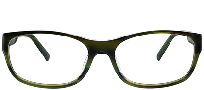 Guess GU 1748 OL Olive Green Rectangle Plastic Eyeglasses