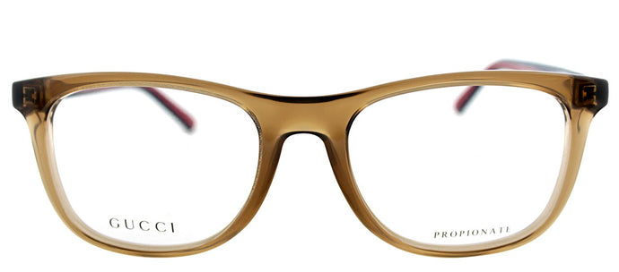Gucci GG 1056 Rectangle Plastic Eyeglasses - Transparent Brown