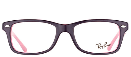 Ray-Ban Jr RY 1531 Square Plastic Eyeglasses - Violet On Fucsia