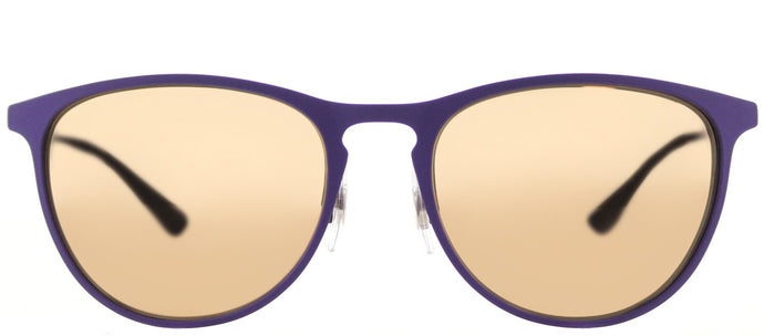 Ray-Ban RJ 9538 Square Metal Sunglasses - Rubber Violet with Copper Flash Mirror Lens