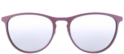 Ray-Ban RJ 9538 Square Metal Sunglasses - Rubber Pink with Lilac Flash Mirror Lens