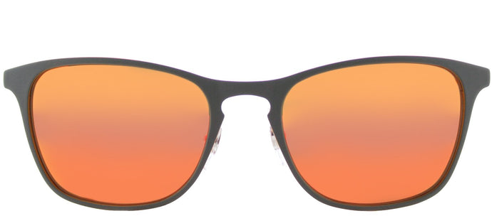 Ray-Ban RJ 9539 Square Metal Sunglasses - Rubber Grey with Orange Flash Mirror Lens