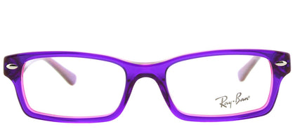 Ray-Ban Jr RY 1530 Square Plastic Eyeglasses - Violet on Fuxia Fluorescent with Demo Lens