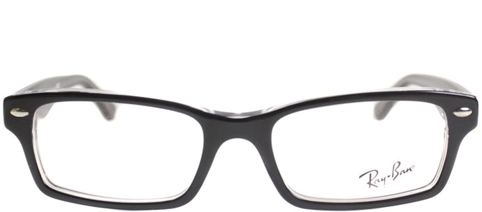 Ray-Ban Jr RY 1530 Square Plastic Eyeglasses - Top Black On Transparent