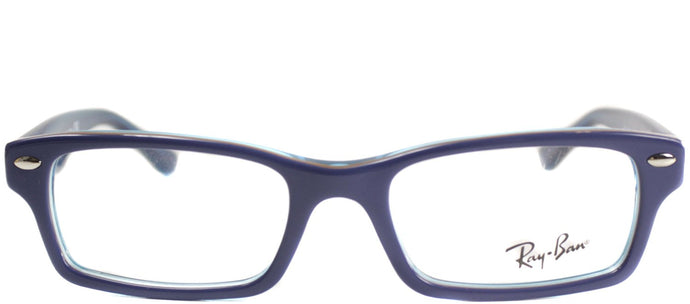 Ray-Ban Jr RY 1530 Square Plastic Eyeglasses - Top Blue On Azure Transparent