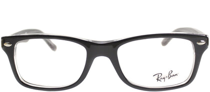 Ray-Ban Jr RY 1531 Square Plastic Eyeglasses - Top Black On Transparent