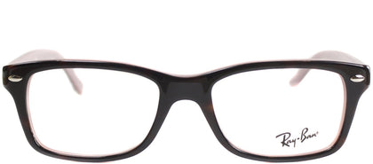 Ray-Ban Jr RY 1531 Square Plastic Eyeglasses - Top Havana on Opal Milk