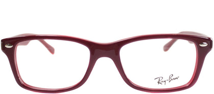 Ray-Ban Jr RY 1531 Square Plastic Eyeglasses - Top Red on Opalin Red