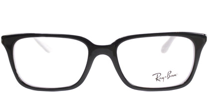 Ray-Ban Jr RY 1532 Square Plastic Eyeglasses - Top Black on White