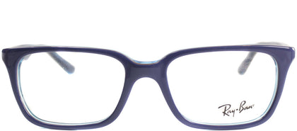Ray-Ban Jr RY 1532 Square Plastic Eyeglasses - Top Blue on Azure Transparent