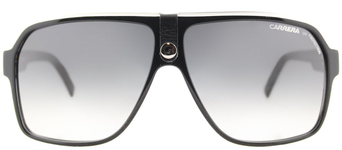 Carrera CA Carrera33 Aviator Plastic Sunglasses - Black Crystal Grey with Dark Grey Gradient Lens