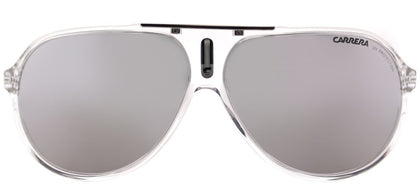 Carrera CA Hot Aviator Plastic Sunglasses - Crystal with Silver Mirror Lens