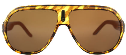Carrera CA Speedway Aviator Plastic Sunglasses - Blush Havana Striated with Brown Polarized Lens
