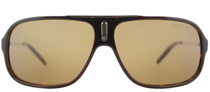 Carrera CA Cool Aviator Plastic Sunglasses - Brown Havana Gold with Brown Polarized Lens