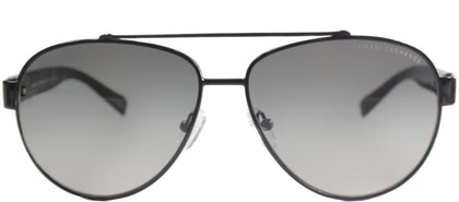 Armani Exchange AX 2010 Aviator Metal Sunglasses - Black with Grey Gradient Lens