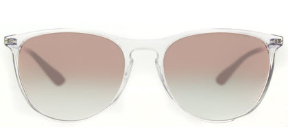 Ray-Ban Childrens Erika RJ 9060S 7030B9 Trasparent Round Plastic Sunglasses