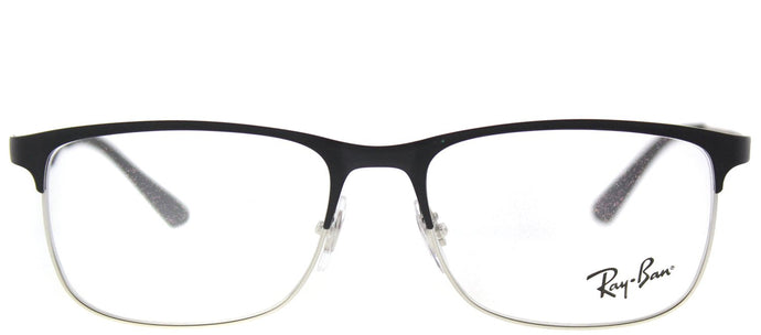 Ray-Ban Junior RY 1052 4055 Silver Matte Black Rectangle Metal Eyeglasses