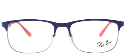 Ray-Ban Junior RY 1052 4057 Gunmetal Matte Blue Rectangle Metal Eyeglasses