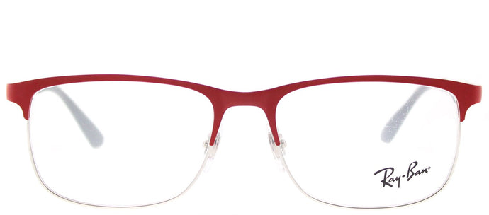 Ray-Ban Junior RY 1052 4059 Silver Matte Red Rectangle Metal Eyeglasses