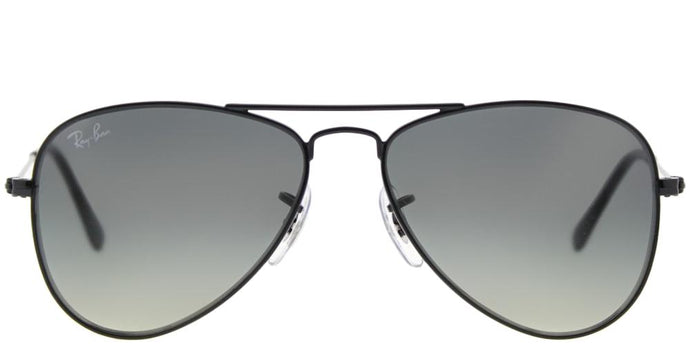 Ray-Ban Childrens Aviator RJ 9506S 220/11 Shiny Black Aviator Metal Sunglasses