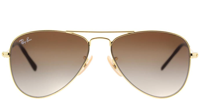 Ray-Ban Childrens Aviator RJ 9506S 223/13 Gold Aviator Metal Sunglasses