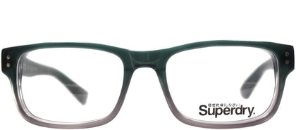 Superdry SD Blake Rectangle Plastic Eyeglasses - Green Purple Gradient