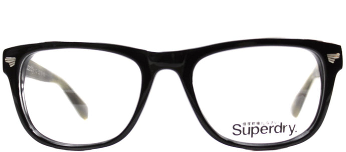 Superdry SD Brando Rectangle Plastic Eyeglasses - Black Horn Green