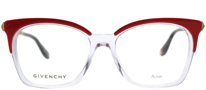 Givenchy GV 0062 SDB Orange Crystal Rectangle Plastic Eyeglasses