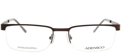 Adensco Adensco 110 JYS Semi Matte Brown Semi-Rimless Metal Eyeglasses