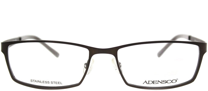 Adensco Adensco 111 JYS Semi Matte Brown Rectangle Metal Eyeglasses