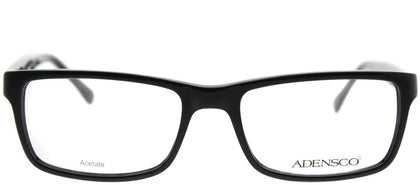 Adensco Adensco 112 807 Black Rectangle Plastic Eyeglasses