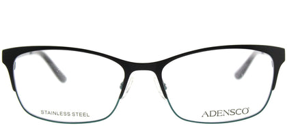 Adensco Adensco 211 807 Black Rectangle Metal Eyeglasses