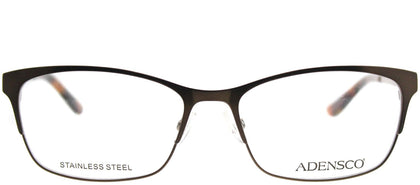 Adensco Adensco 211 YT6 Semi Matte Brown Rectangle Metal Eyeglasses