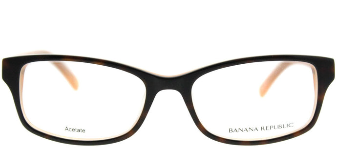 Banana Republic Cali DM9 Tortoise Peach Rectangle Plastic Eyeglasses