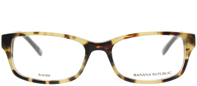 Banana Republic Cali ESP Camel Tortoise Black Rectangle Plastic Eyeglasses
