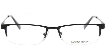 Banana Republic Chet/N JCB Satin Black Semi-Rimless Metal Eyeglasses
