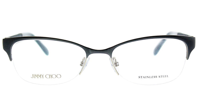 Jimmy Choo JC 106 P8H Matte Navy Semi-Rimless Metal Eyeglasses
