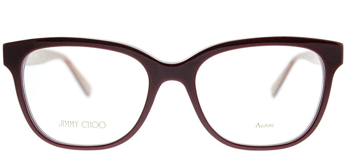 Jimmy Choo JC 109 EMU Bordeaux Square Plastic Eyeglasses