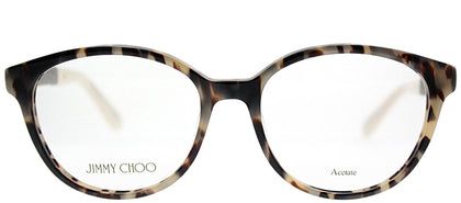 Jimmy Choo JC 118 VUV Light Tortoise Round Plastic Eyeglasses