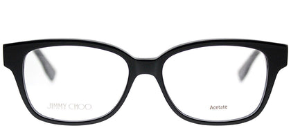 Jimmy Choo JC 137 J3L Black Spotted Rectangle Plastic Eyeglasses