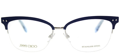 Jimmy Choo JC 138 LYH Blue Square Metal Eyeglasses
