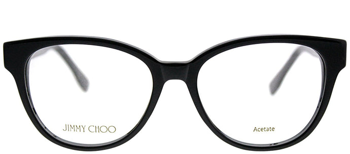 Jimmy Choo JC 141 J3L Black Spotted Cat-Eye Plastic Eyeglasses