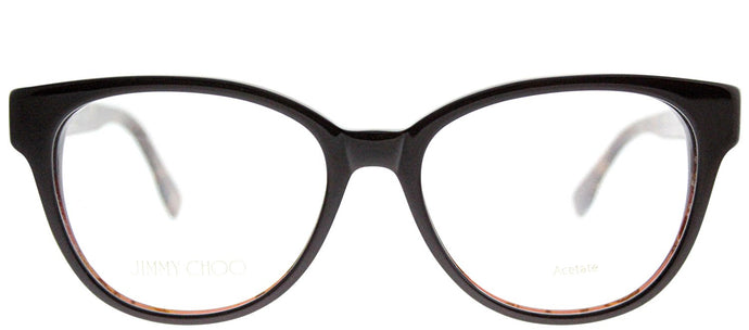 Jimmy Choo JC 141 J3P Brown Spotted Cat-Eye Plastic Eyeglasses